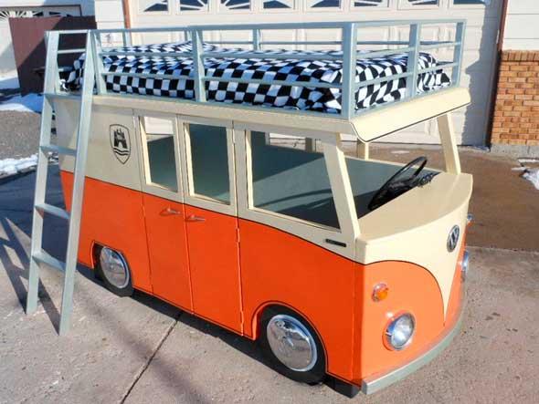 Tutorial sobre cómo hacer una cama con forma de furgoneta Volkswagen