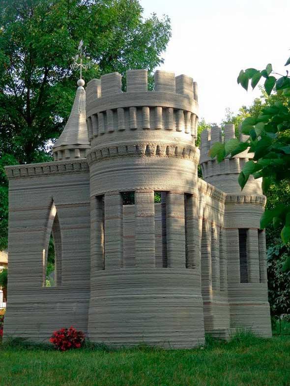 Un chico se imprime en 3D su própio castillo de hormigón