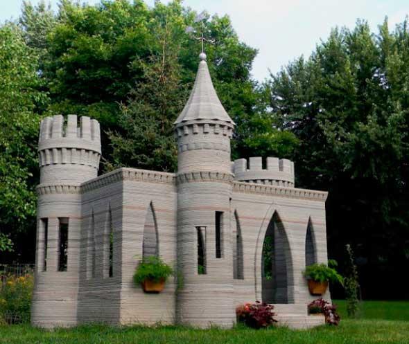 Castillo impresora 3D de hormigón