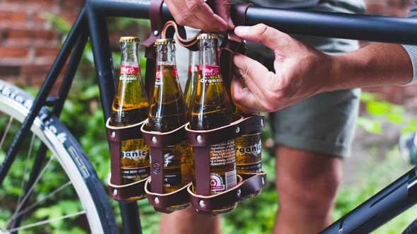 Porta cervezas para bicicleta hipster