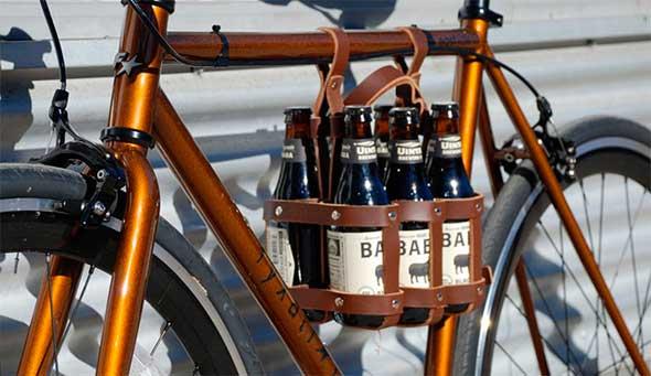 Porta cervezas para bicicleta