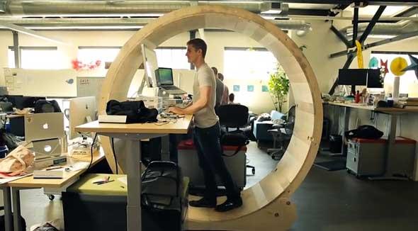 Escritorio rueda de hámster para oficina