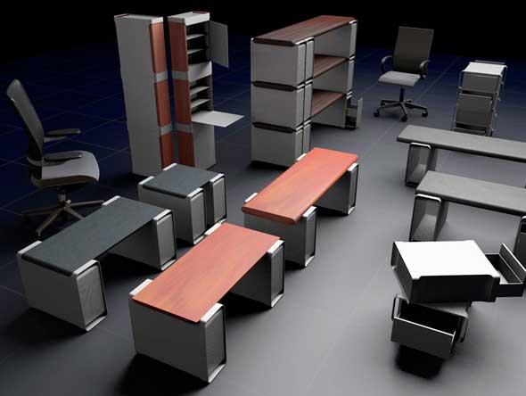 Muebles creados a partir de ordenadores Power Mac G5