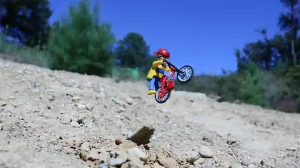 Playmobil y el mundo del Mountain Bike y BMX, en un impresionante vídeo en Stop Motion