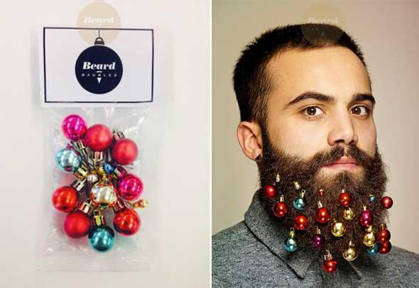 bolas de Navidad para decorar barbas
