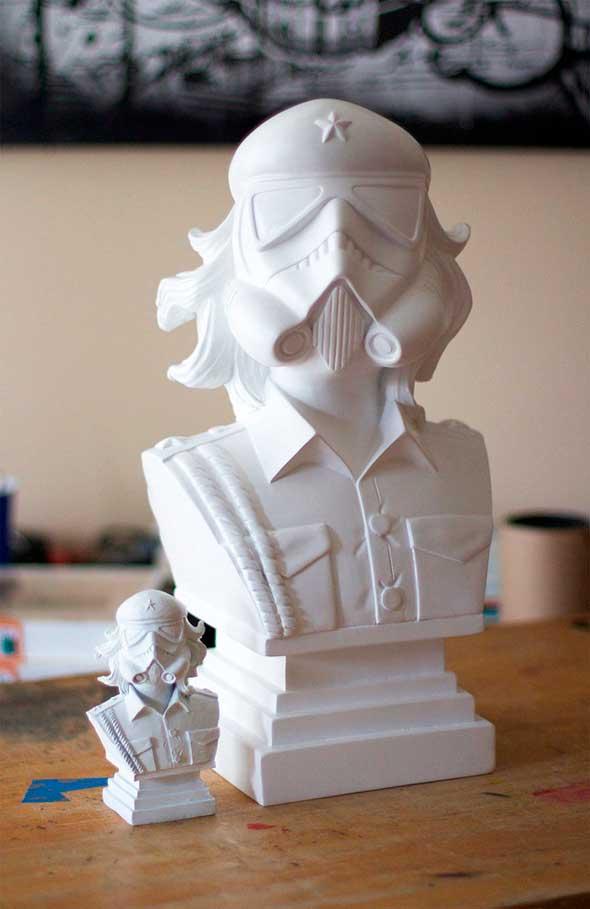 Busto de el che estilo stormtrooper