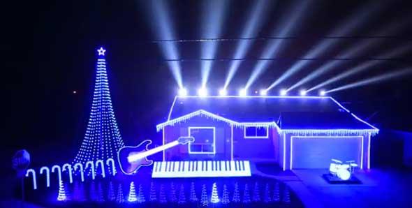 Música de Star Wars y luces de Navidad para ambientar su casa