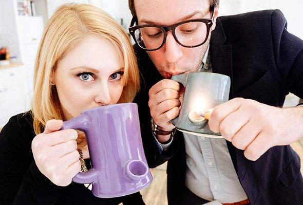 Pipemug - Taza de café con pipa incluida