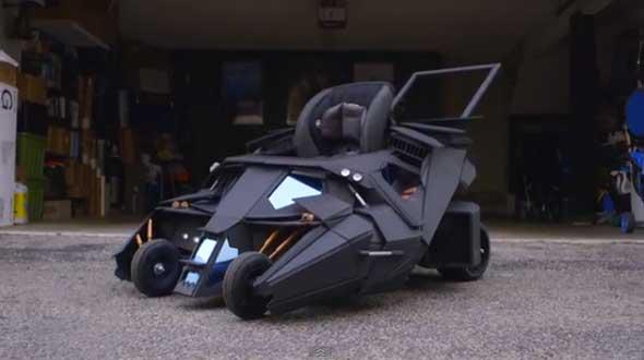 Convirtiendo un carrito de bebe en un Batmóvil
