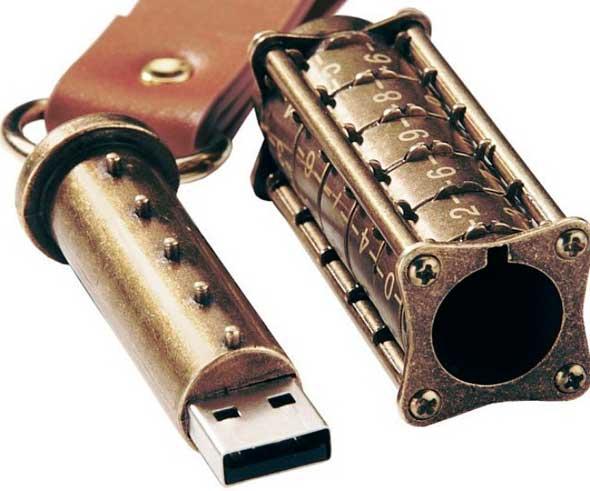 Memoria USB con candado de combinación
