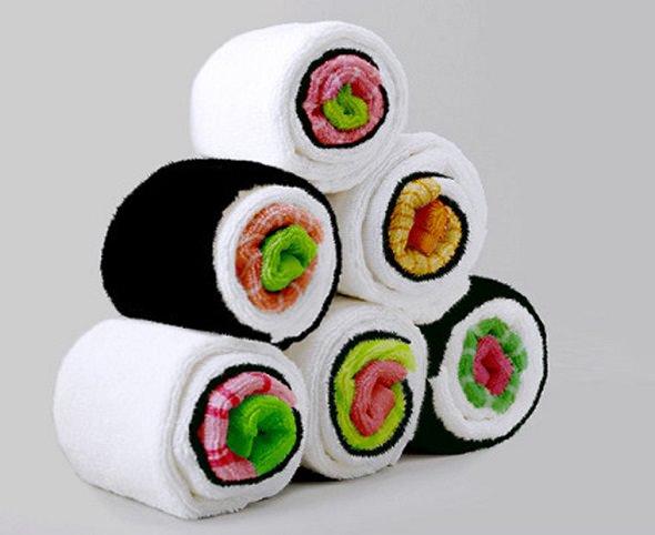 Sushi Towel, las toallas en forma de Maki Sushi