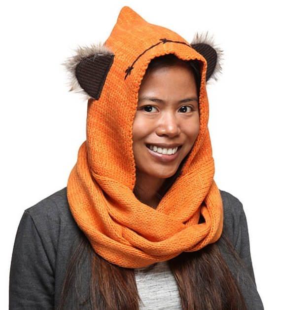 Star Wars: Capucha de Ewok con bufanda